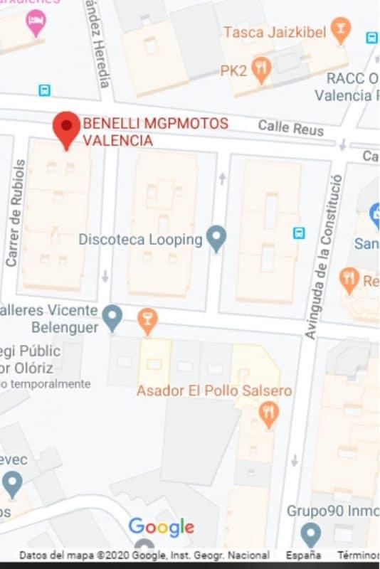 Mapa taller de motos en Valencia